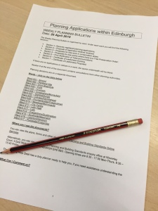Planning applications and a HB pencil