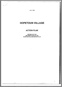 Hopetoun Village Action Plan 1999