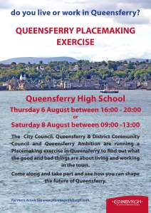 Poster for the Queensferry placemaking exercise