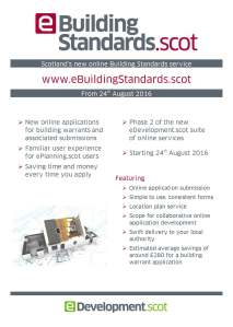 eBuilding Standards info flyer image