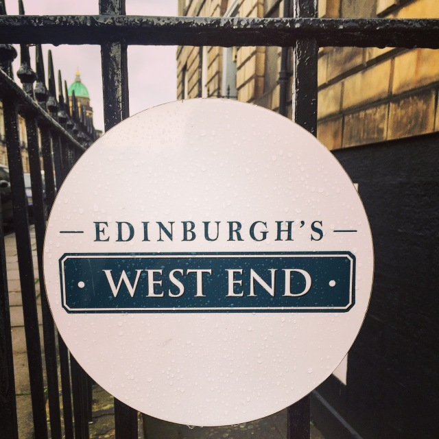 Edinburgh West End sign