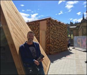 Gavin Neate, CEO of Neatebox, at Edinburgh Pavilion