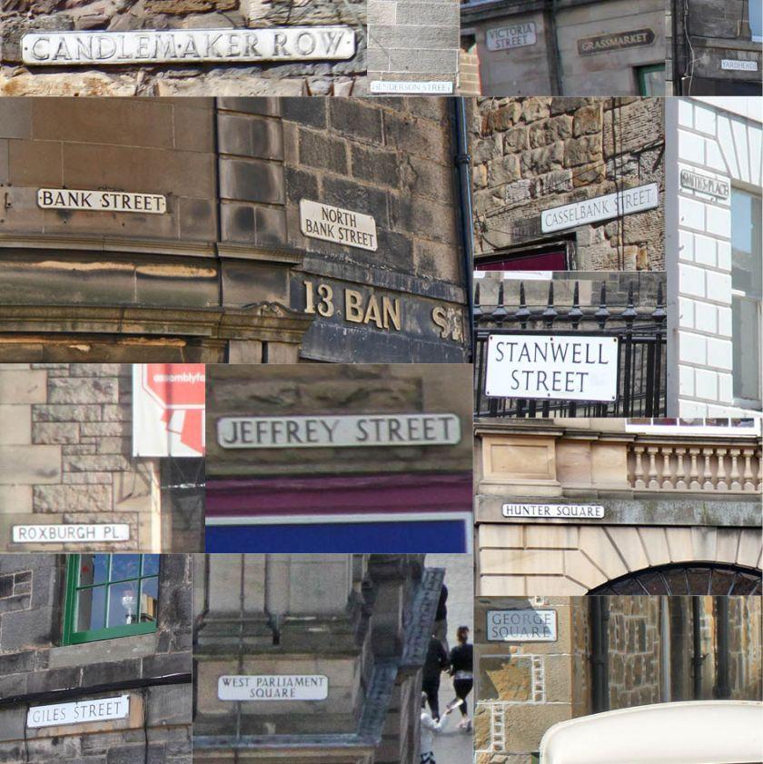 Edinburgh street names
