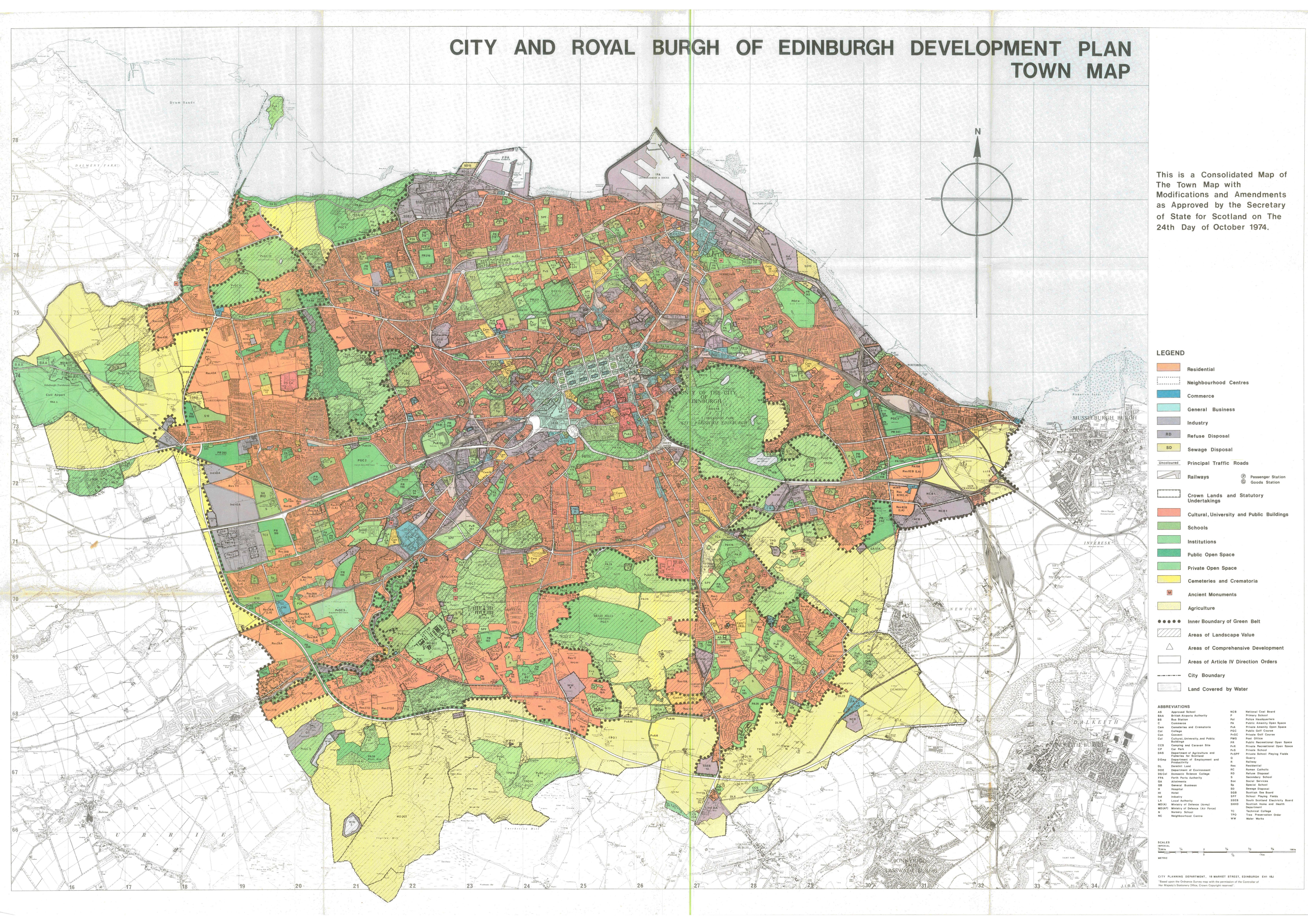 1965 proposal map