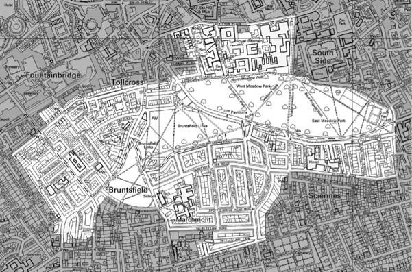 Map of the Marchmont, Meadows and Bruntsfield Conservation Area